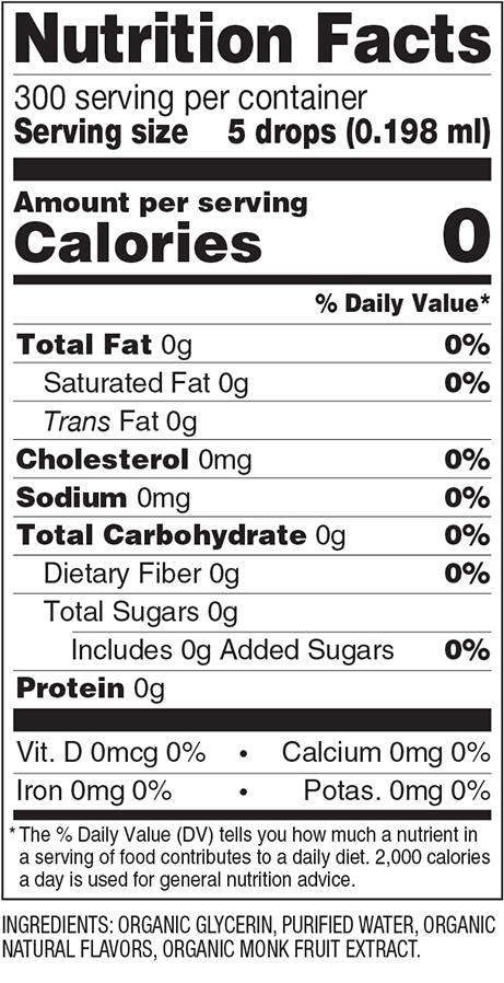 Creme Brulee Monk Fruit Organic Sweetener Nutrition Facts
